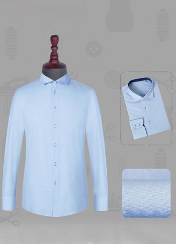 男长袖衬衫高领